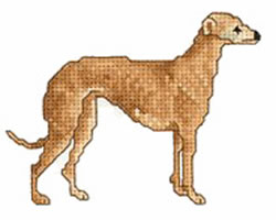 Greyhound embroidery design