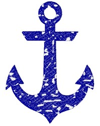 Distressed Anchor embroidery design