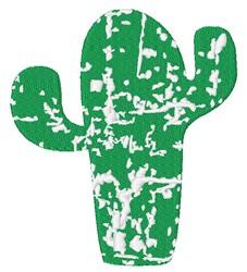 Distressed Cactus embroidery design