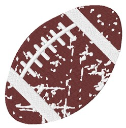 Distressed Football embroidery design
