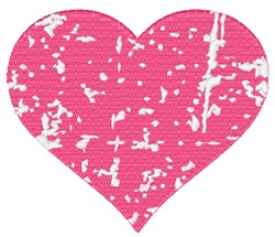 Distressed Heart embroidery design
