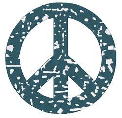 Distressed Peace Sign embroidery design