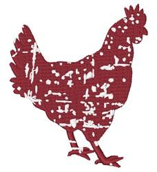Grunge Chicken embroidery design