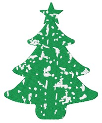 Distressed Christmas Tree embroidery design