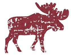Distressed Moose embroidery design