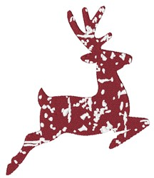Distressed Reindeer embroidery design