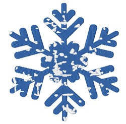 Distressed Snowflake embroidery design