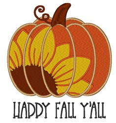 Happy Fall Yall Pumpkin embroidery design
