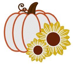 Pumpkin & Sunflowers embroidery design