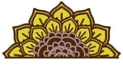 Layered Sunflower Half embroidery design