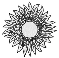 Sunflower Monogram Frame embroidery design