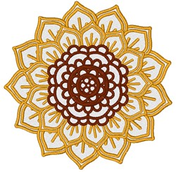 Sunflower Outling embroidery design