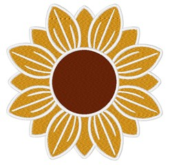 Sunflower embroidery design