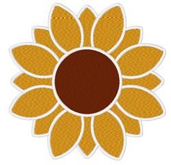 Decorative Sunflower Blossom embroidery design