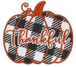 Thankful Plaid Pumpkin embroidery design