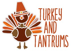 Turkey And Tantrums embroidery design