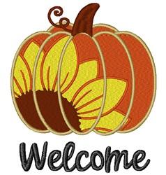 Welcome Sunflower Pumpkin embroidery design