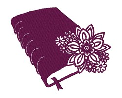 Floral Book embroidery design