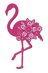 Floral Flamingo embroidery design