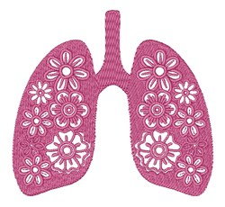 Floral Lungs embroidery design
