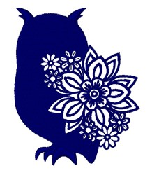 Floral Owl embroidery design