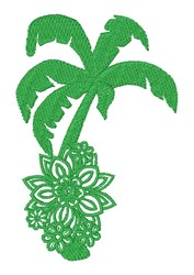 Floral Palm Tree embroidery design