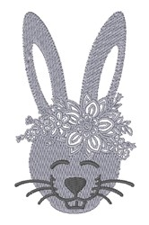 Floral Rabbit embroidery design