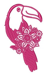 Floral Toucan embroidery design