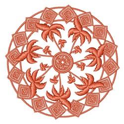 Palm Tree Mandala embroidery design