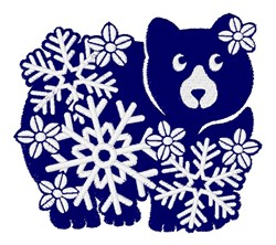 Snowflake Bear embroidery design