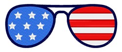 American Flag Sunglasses embroidery design