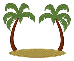 Palm Tree Frame embroidery design