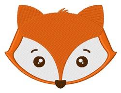Kawaii Fox Head embroidery design