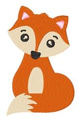 Layered Kawaii Fox embroidery design