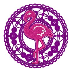 Lace Flamingo embroidery design