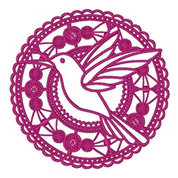 Lace Hummingbird embroidery design