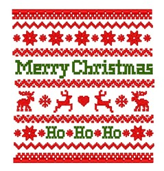 Merry Christmas Sweater Pattern embroidery design