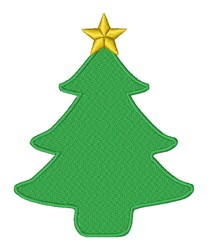 Christmas Tree & Star embroidery design