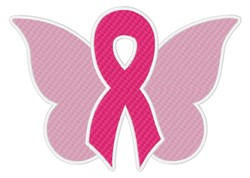 Awareness Ribbon & Butterfly embroidery design