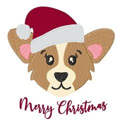Kawaii Merry Christmas Corgi embroidery design