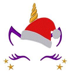 Santa Unicorn embroidery design