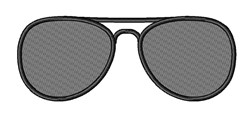 Layered Sunglasses embroidery design