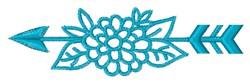 Southwestern Floral Arrow embroidery design