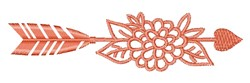 Orange Arrow  & Flowers embroidery design