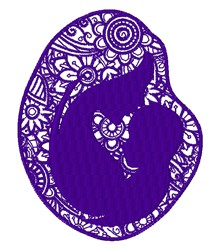 Floral Mother & Child embroidery design