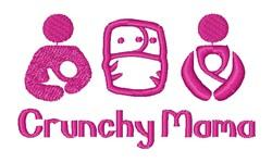 Crunchy Mama embroidery design