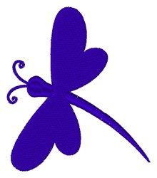 Dragonfly Silhouette embroidery design