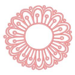Floral Monogram Frame embroidery design