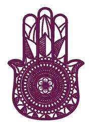 Floral Hamsa embroidery design