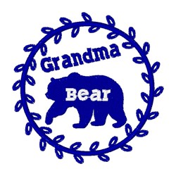 Grandma Bear, animal, mammal, wildlife, grizzly, brown,Bear embroidery design